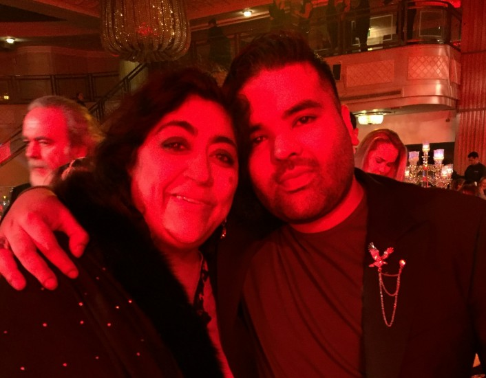 Gurinder with Naughty Boy
