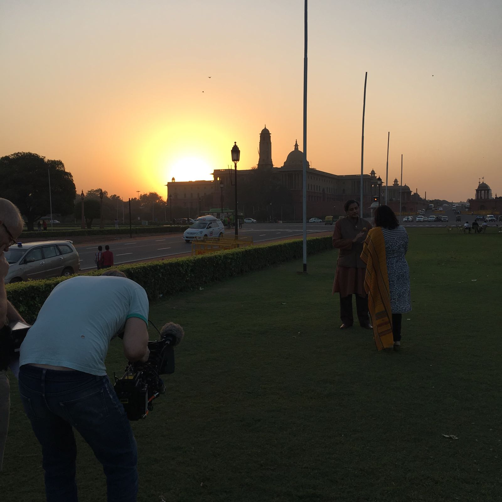 Beautiful shot with sun setting in the background