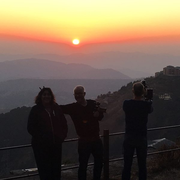 Shimla Sunset with the crew