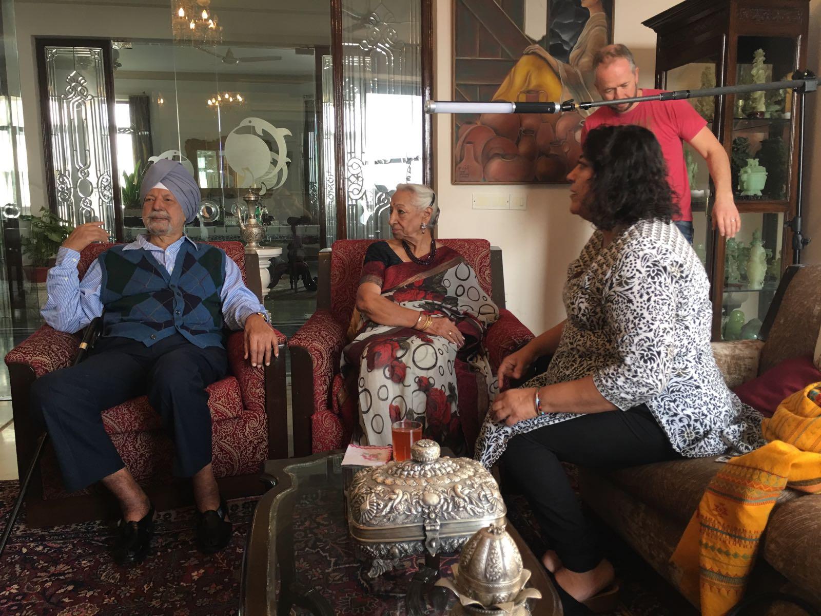 interviewing Rear Admiral Kirpal Singh